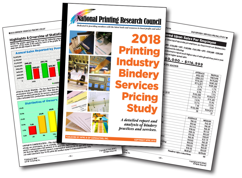 2018 Printing Industry Bindery Services Pricing Study