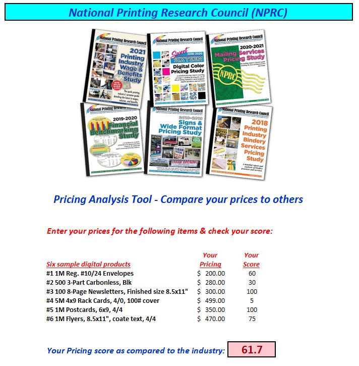 Check-out Your Pricing Against National Pricing